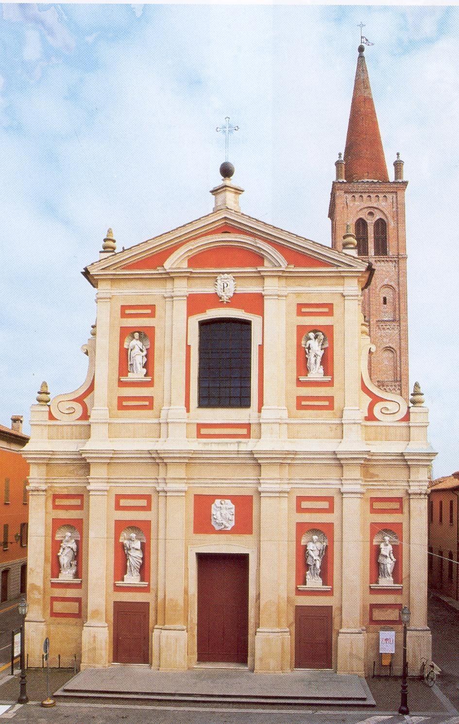 La Chiesa Collegiata prima del sisma del maggio 2012