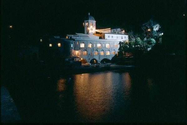 Veduta notturna, ABBAZIA DI SAN FRUTTUOSO, CAMOGLI (GE )