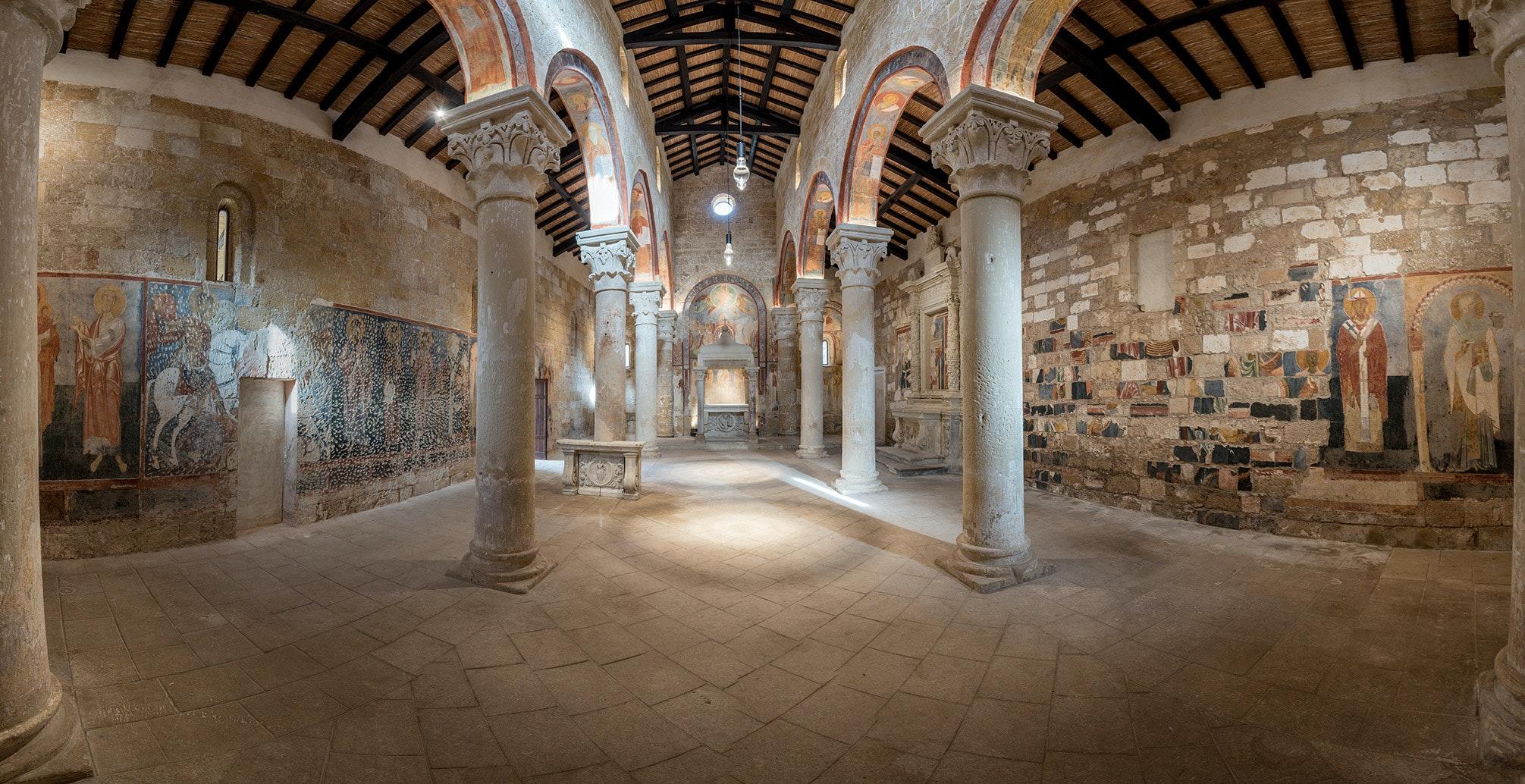 Affreschi all'interno della chiesa, ABBAZIA DI SANTA MARIA DI CERRATE, LECCE (LE )