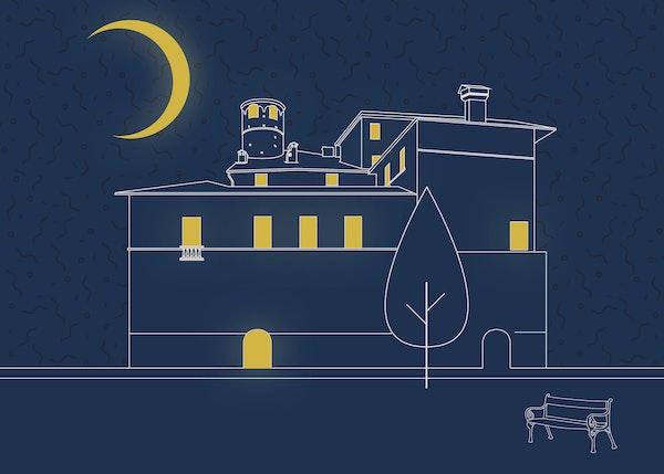 Al castello di sera