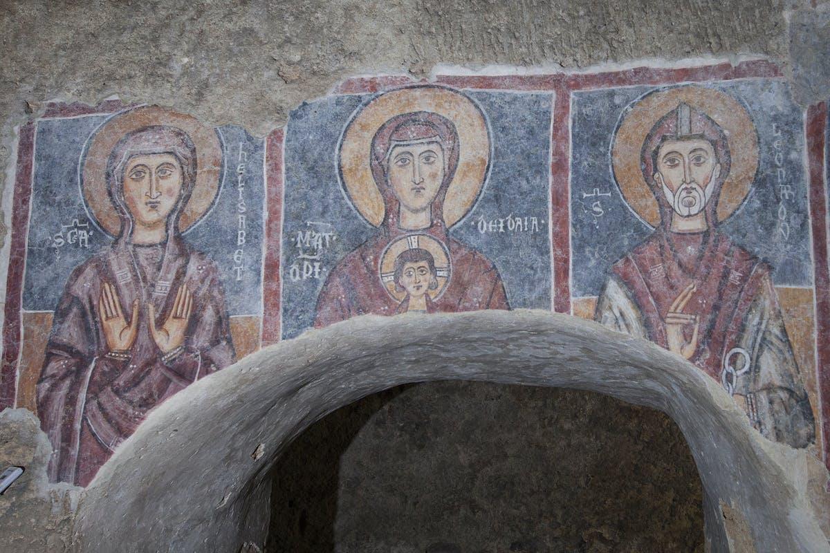 """Presentazione del restauro dell'affresco """"Teoria dei Santi"""""""