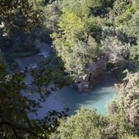 Veduta su una pozza del fiume Aniene, PARCO VILLA GREGORIANA, TIVOLI, ROMA