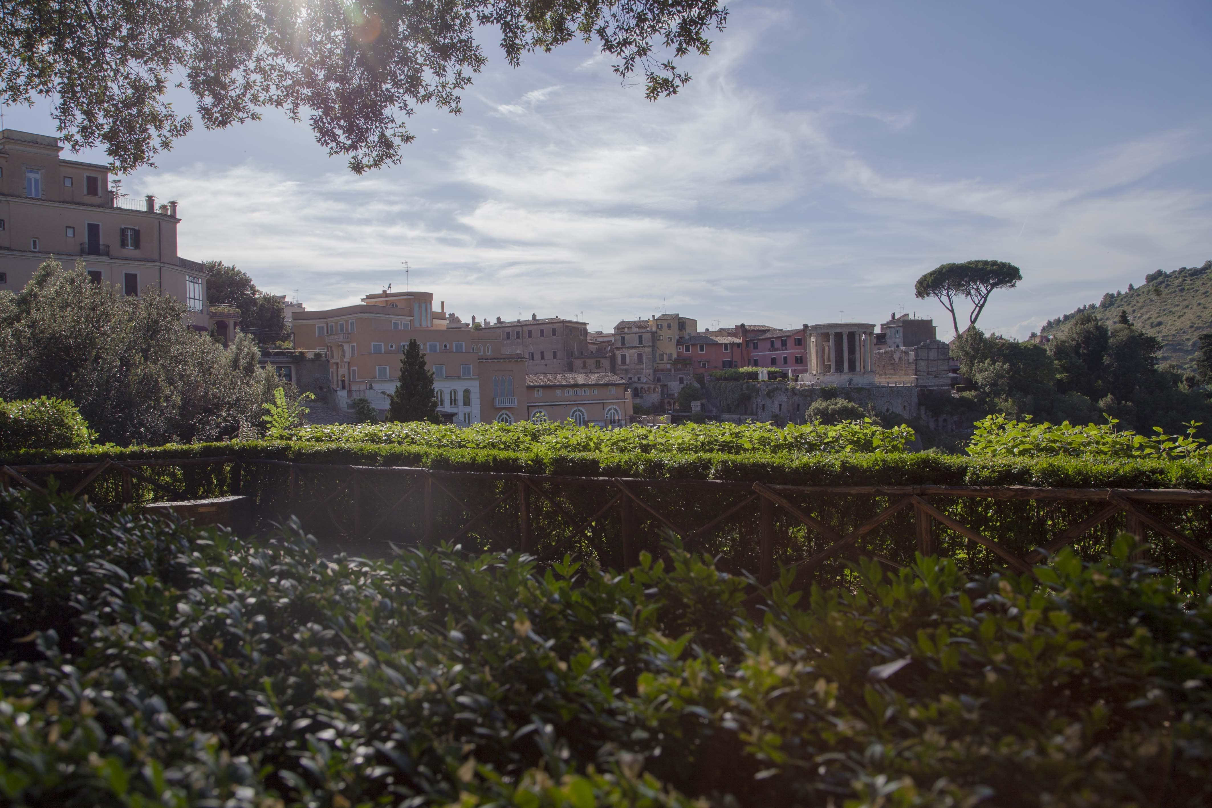 Vista su Tivoli, PARCO VILLA GREGORIANA, TIVOLI, ROMA
