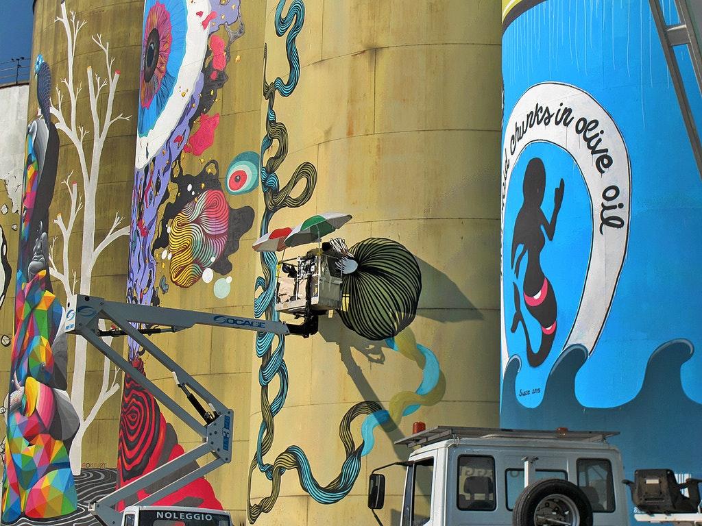 Street Art Silos, AUTORITÀ PORTUALE, CATANIA (CT )