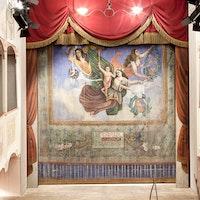 Sipario dipinto, TEATRINO DI VETRIANO, FRAZ. VETRIANO – PESCAGLIA, LUCCA